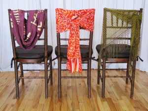 Scarf chair covers