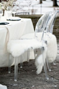 Faux Fur Chair Cover - unknown source, Pinterest