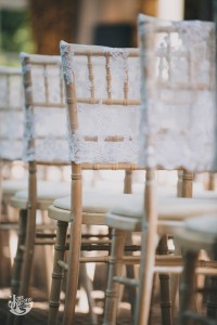 Lace chair cover - WeddingCreationsUK