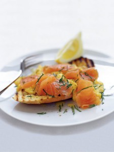 Smoked salmon and scrambled eggs - Jamie Oliver
