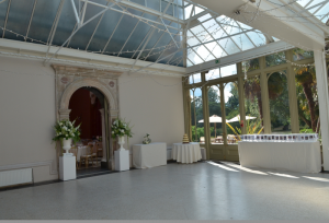 Conservatory at Hampton Court House in Surrey